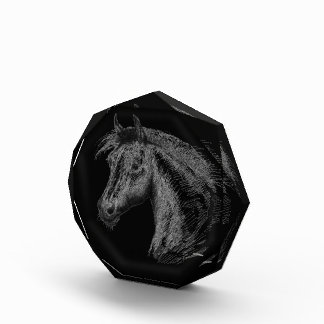 Horse:  Black Acrylic Award