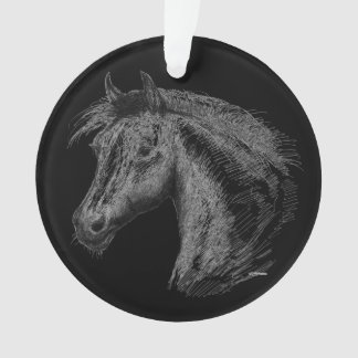 Horse:  Black Ornament