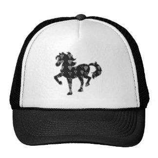 HORSE black pet animal race kids NavinJOSHI NVN57 Trucker Hat