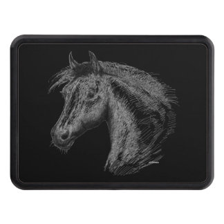 Horse:  Black Tow Hitch Cover