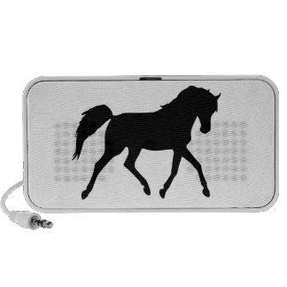 Horse black trotting portable doodle speakers