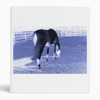 horse blue grazing in equine image 3 ring binder