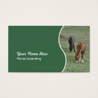 Horse boarding or livery grazing horses business card