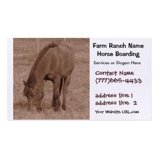 Horse Boarding or Stables Business Card Template