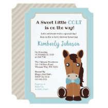 Horse Boy Baby Shower Invitation