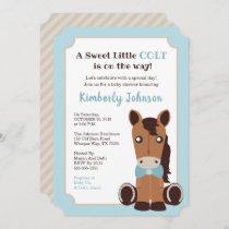 Horse Boy Baby Shower Invitation