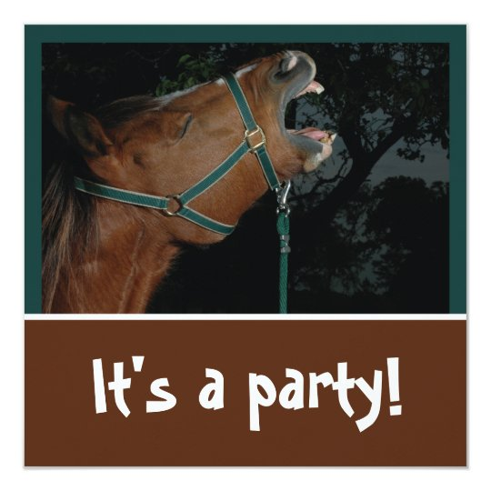 Horse Braying Party Invitation