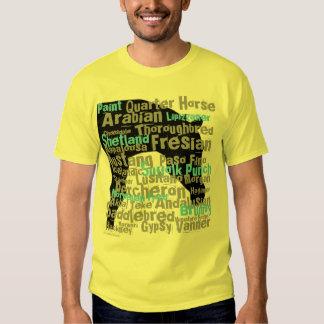 Horse Breeds Mens T-Shirt Yellow