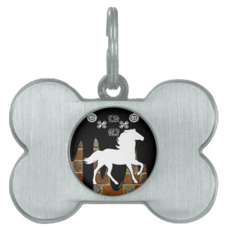 HORSE BRICK BACKGROUND PRODUCTS PET ID TAG