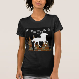 HORSE BRICK BACKGROUND PRODUCTS T-SHIRTS