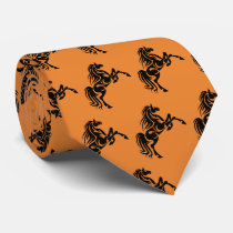 Horse Broncos Mustangs Mascot On Any Color Tie