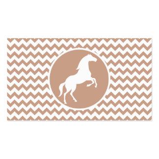 Horse; Brown Chevron Business Card