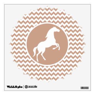 Horse; Brown Chevron Wall Decal