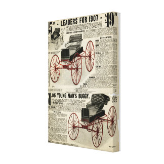 Horse buggy canvas Sears and Roebuck 1907 catalog