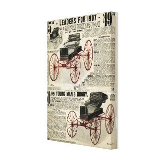 Horse buggy canvas Sears and Roebuck 1907 catalog Canvas Prints