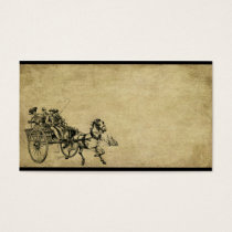 Horse & Buggy Ride- Prim Biz Cards