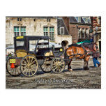 Horse Buggy Taxi, Sights of Amsterdam Postcards