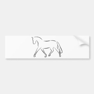 horse bumper sticker