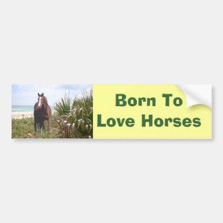 Horse Bumper Sticker Beach Car Bumper Sticker