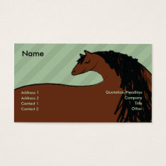 Horse - Business Business Card at Zazzle