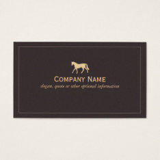 Horse Business Card at Zazzle