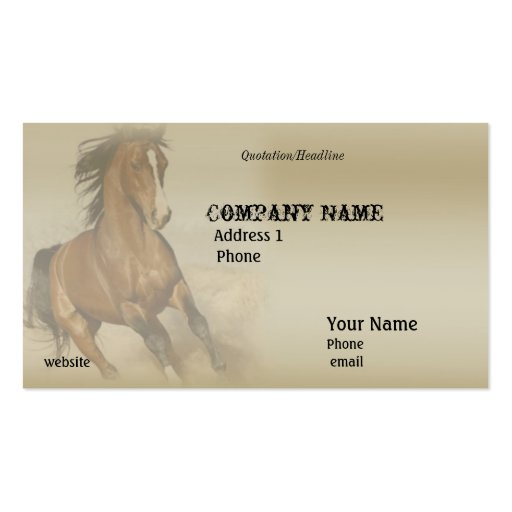Horse business card zazzle for Horse business cards