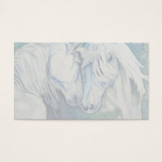 Horse Business Card- Blue Business Card at Zazzle