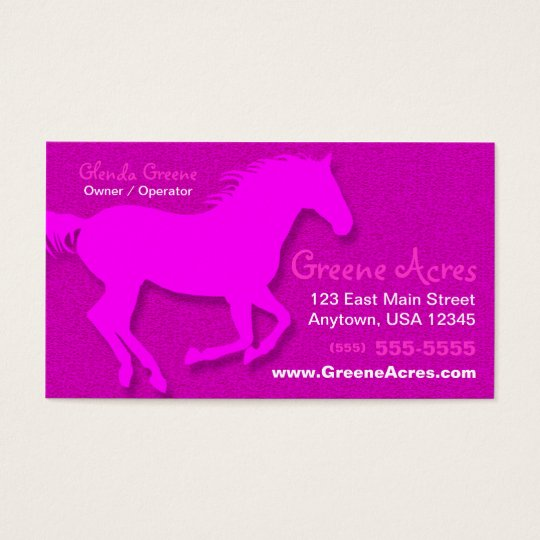Horse Business Card - Pink