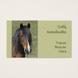 Horse business card template