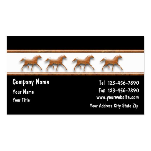 Horse business cards zazzle for Horse business cards