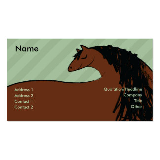 Horse - Business Double-Sided Standard Business Cards (Pack Of 100)