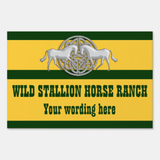 Horse business equine equestrian yard sign