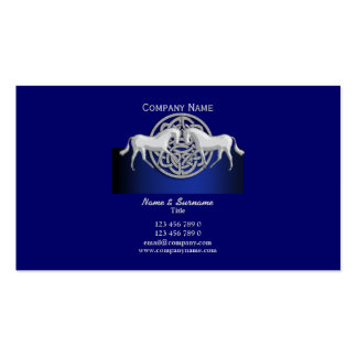 Horse business marketing blue black white celtic business card template