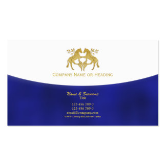 Horse business marketing blue gold business card