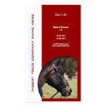 Horse business marketing Double-Sided standard business cards (Pack of 100)