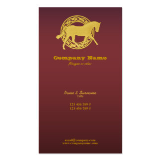 Horse business marketing business card template