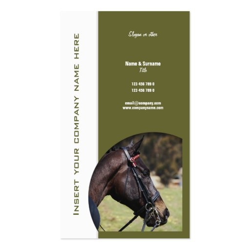 Horse business marketing business card