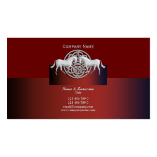Horse business marketing celtic red black white Double-Sided standard business cards (Pack of 100)