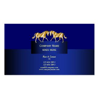 Horse business marketing dappled gold blue business card