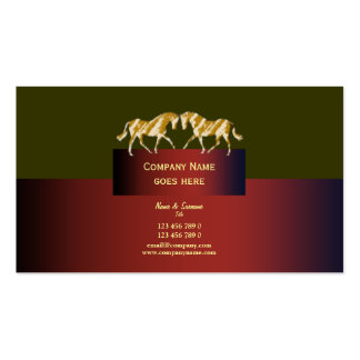 Horse business marketing dappled gold green red Double-Sided standard business cards (Pack of 100)