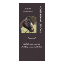 Horse business marketing rack card