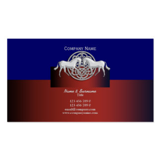 Horse business marketing red blue celtic Double-Sided standard business cards (Pack of 100)