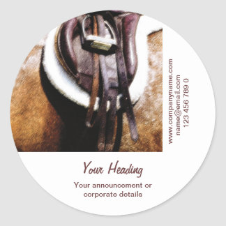 Horse business marketing stables farrier riding classic round sticker