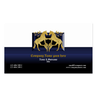 Horse business profile marketing blue gold business card templates