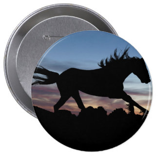 horse 4 inch round button