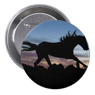 horse 3 inch round button