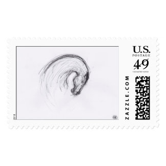 Horse by PB - Original Drawing - Postage