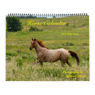 Horse Calendar with Bible Verses (12 month)