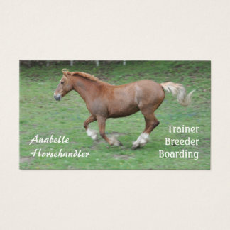 Horse cantering business business card