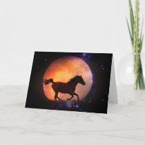 Horse Card, Fantasy Blank Notecard